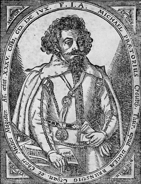Michael Praetorius (1571-1621), Kupferstich von 1606
